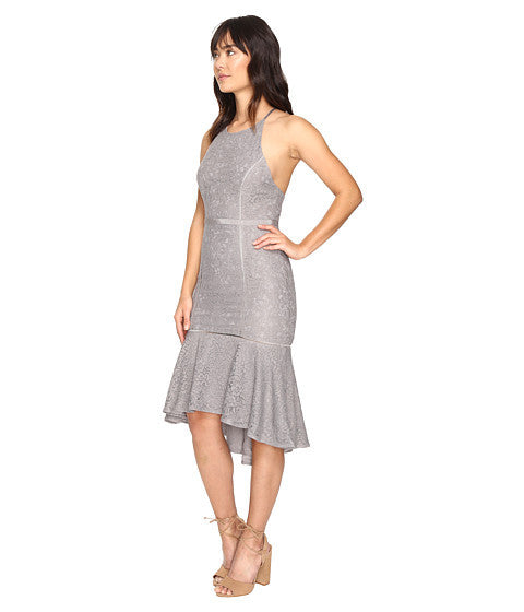Constance Midi Dress in Grey