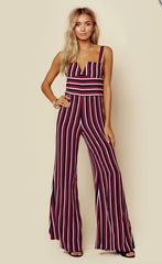 Gypset Jumpsuit in Sangria Stripe