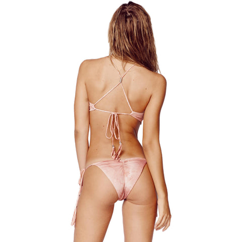 Desert Mirage Crop Bikini Top in Blush (FINAL SALE)