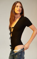 Xenia Bodysuit in Black