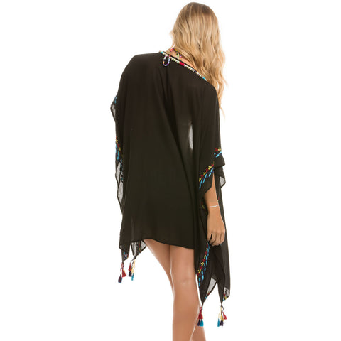 Beach Blanket Tunic in Black