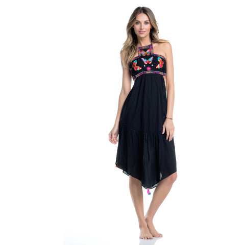 Bahia Butterfly Embroidered Dress (FINAL SALE)
