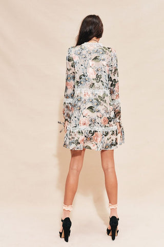 Luciana Swing Dress in Ivory Floral