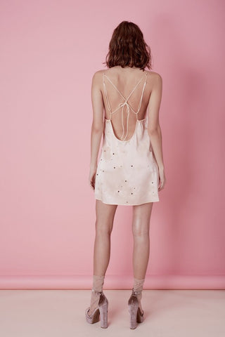 Twinkle Slip Dress in Blush