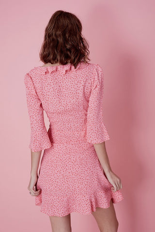 Nostalgic Tie Front Dress in Watermelon Star