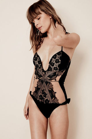 Corsica Lace One Piece in Black