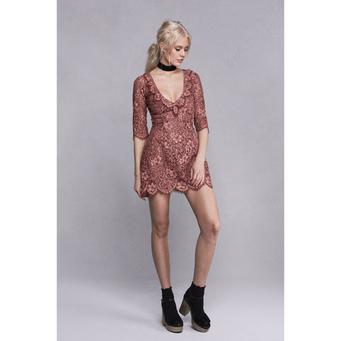 Theodora Mini Dress in Rosie