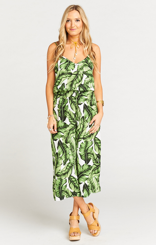 Margaux Playsuit in Frond of You