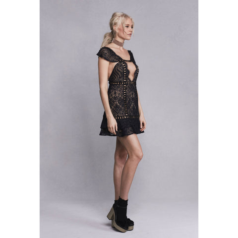 Emerie Sleeveless Dress in Black
