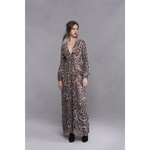 Gracie Maxi Dress in Nude Floral