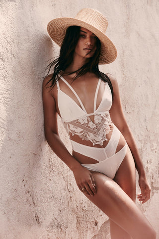 Grenada Lace One Piece in White