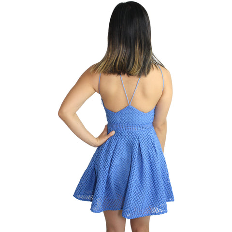Monroe Dress in Astor Blue