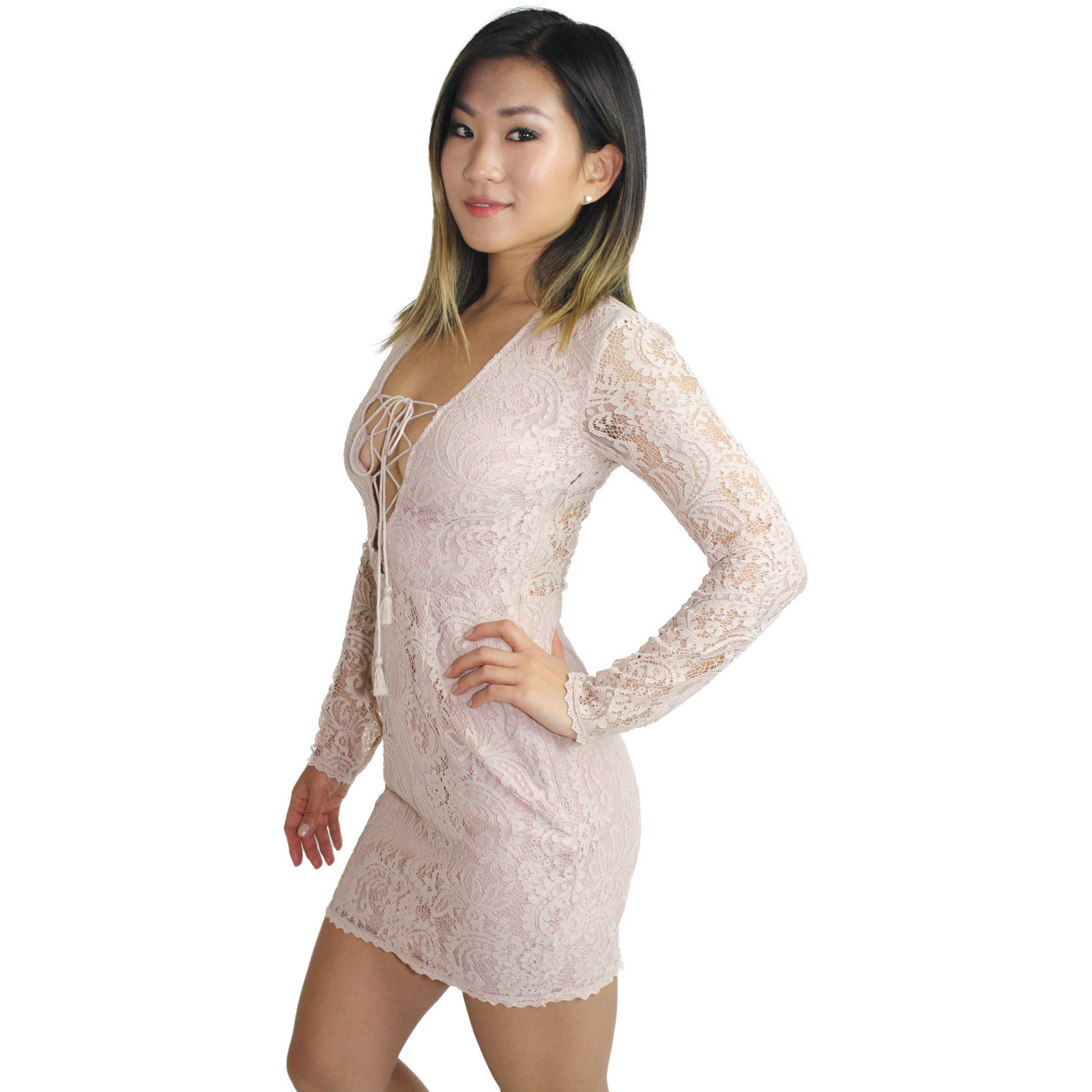 Resort Mini Dress in Nude