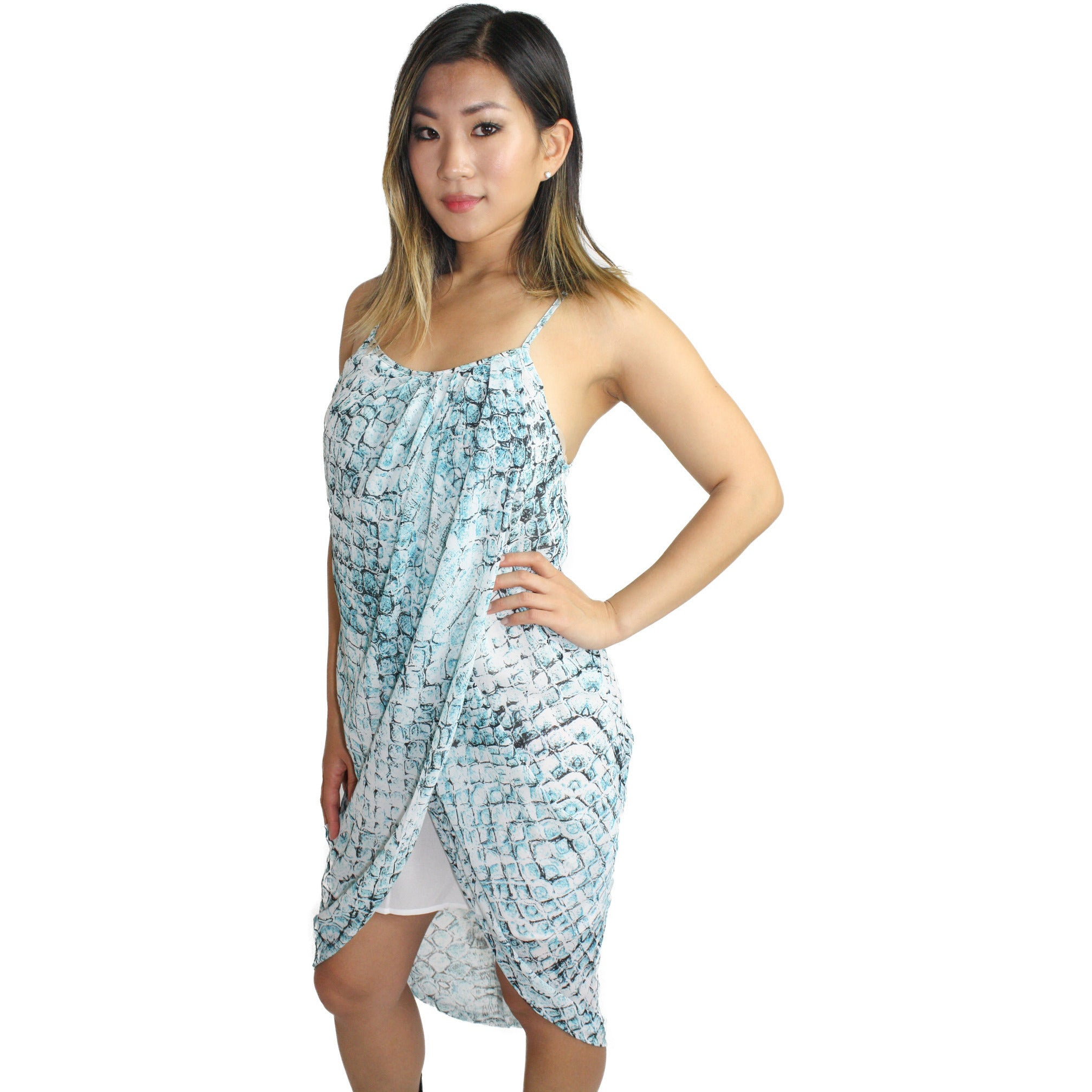 Beach Queen Tank Dress in Turquoise Waters