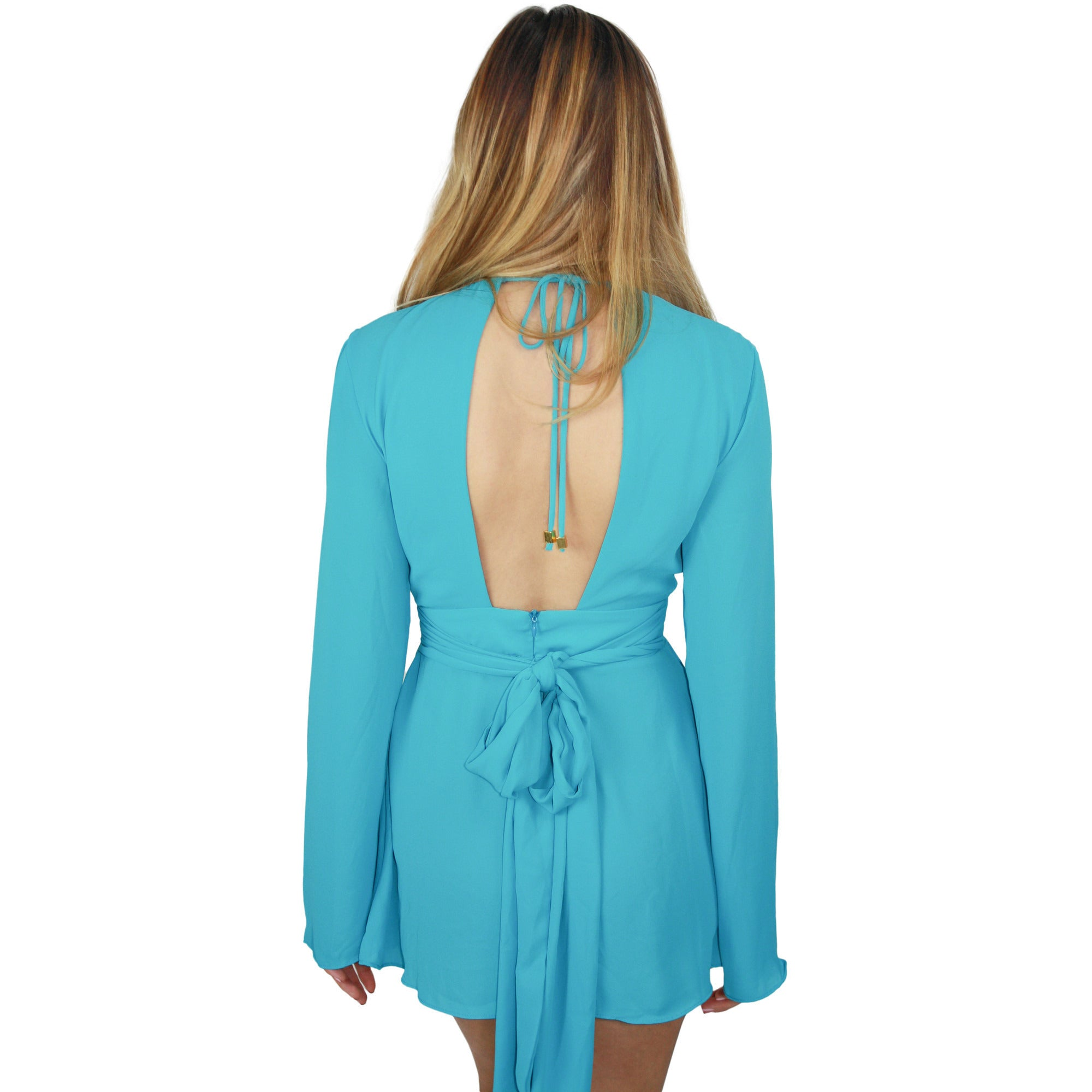 Elle Deep V Playsuit in Panama