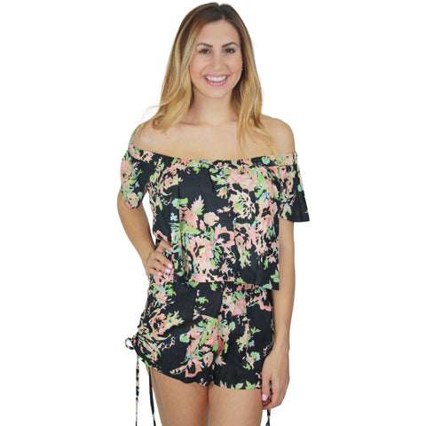 Garden Party Crop in Black