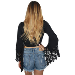 Solei Crop Top in Black