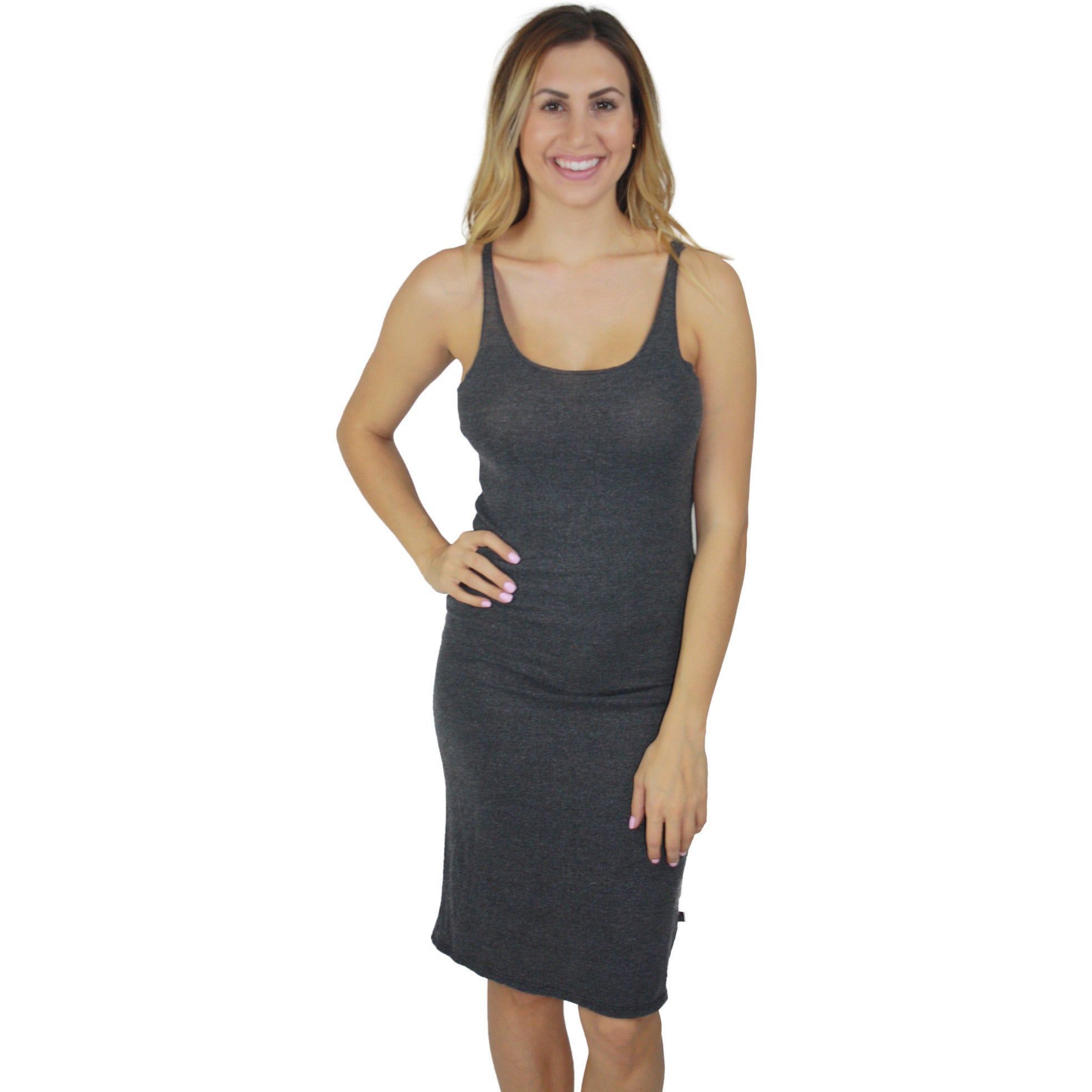 Janea Raw Edge Cami Dress in Black