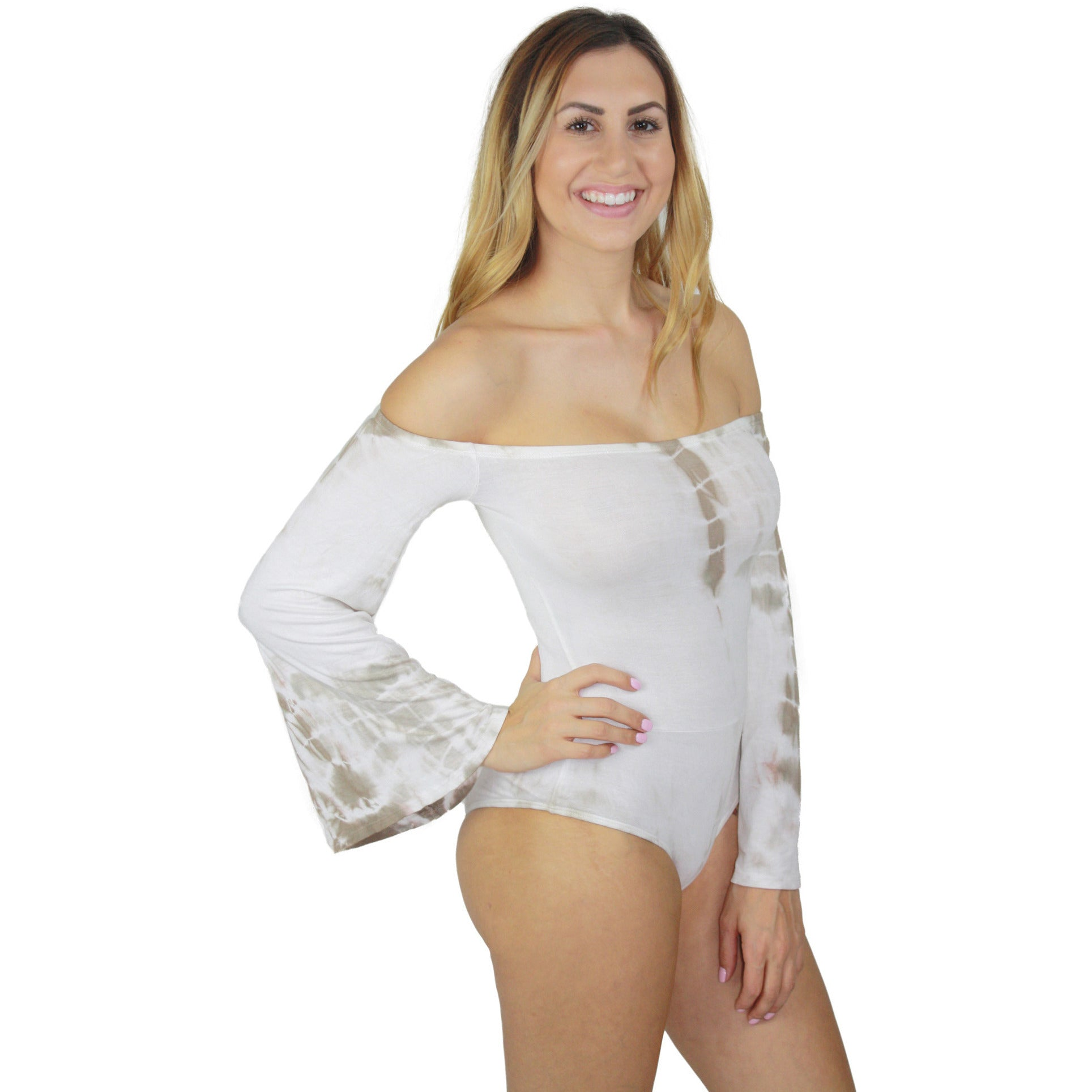 Brigitte Off Shoulder Bell Sleeve Bodysuit (FINAL SALE)