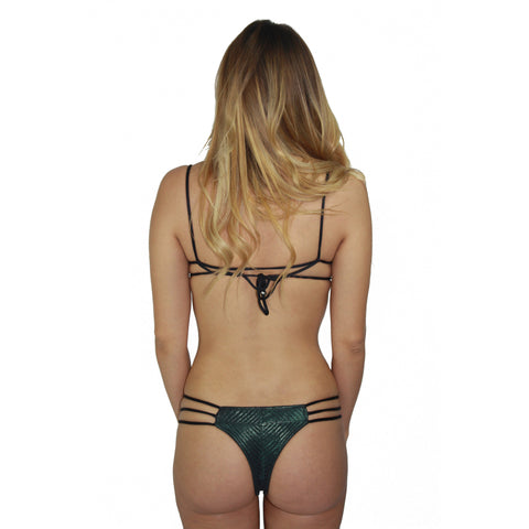 Jani Skimpy Bikini Bottom in Petrol (Final Sale)