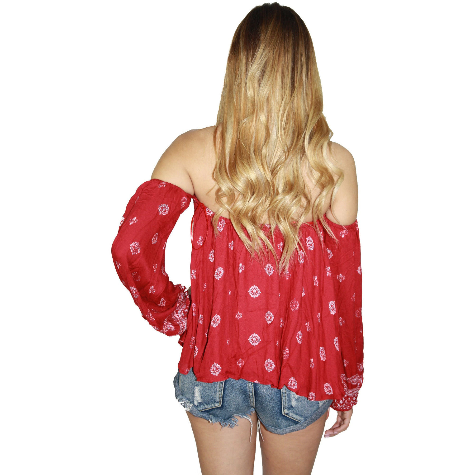 Fuego Crop Top in Red Robe Print