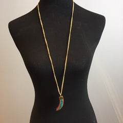 Saber Tooth Turquoise Necklace