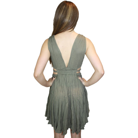 Gaillardia Dress in Olive