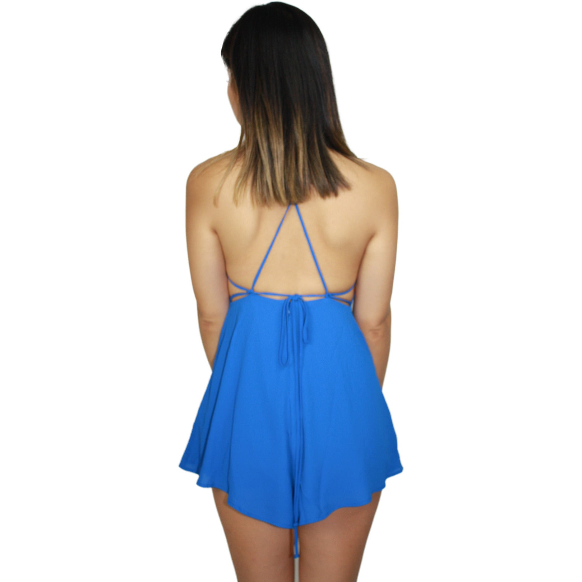 Royal Strap Back Romper
