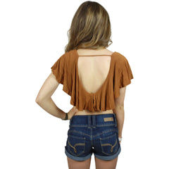 Cornelia Crop Top in Rusty