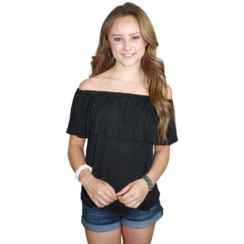 Yan Off The Shoulder Top in Black