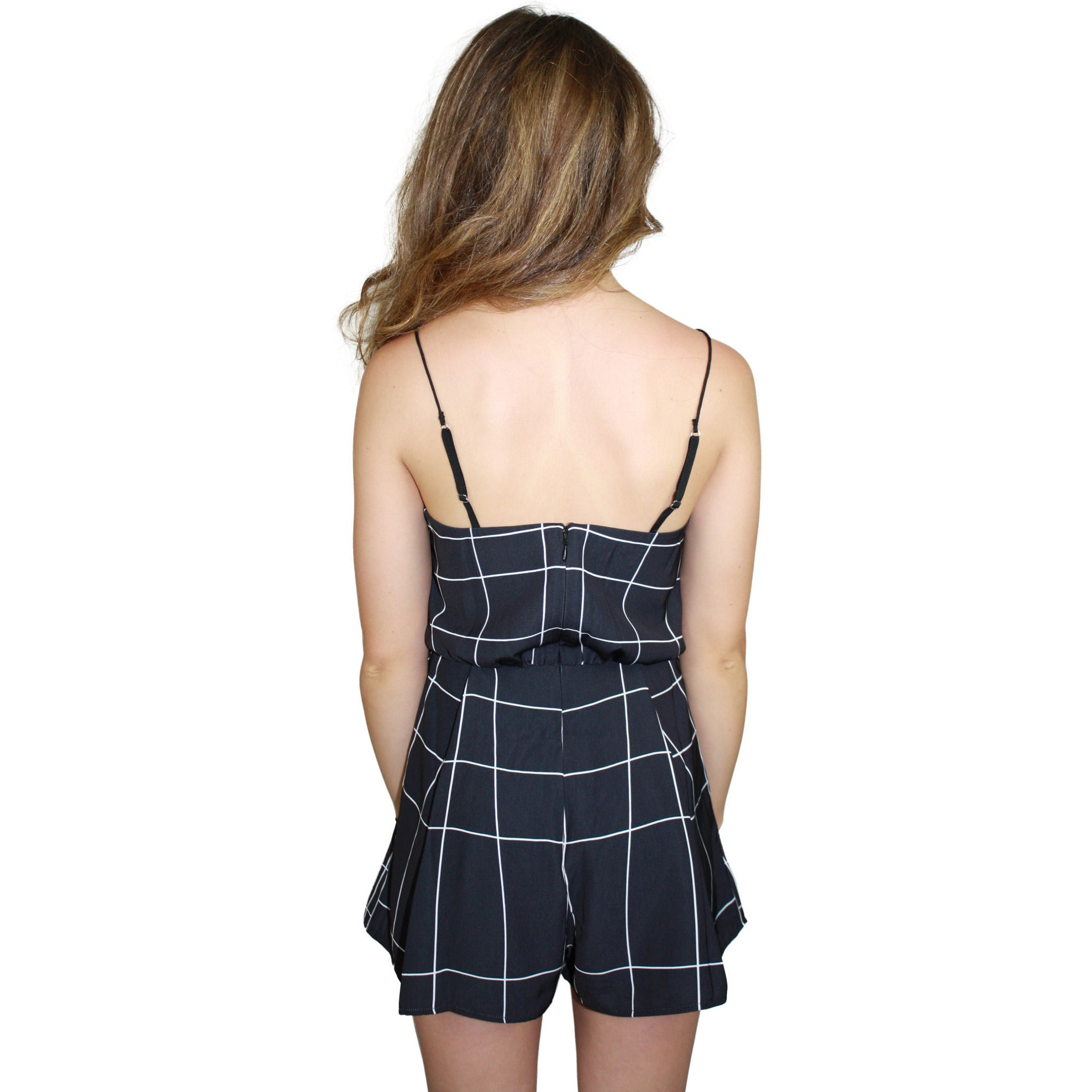 Iggy Romper in Window Pane Print