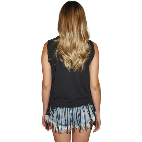 Annora Fringe Crop Tank OZ Fest (FINAL SALE)