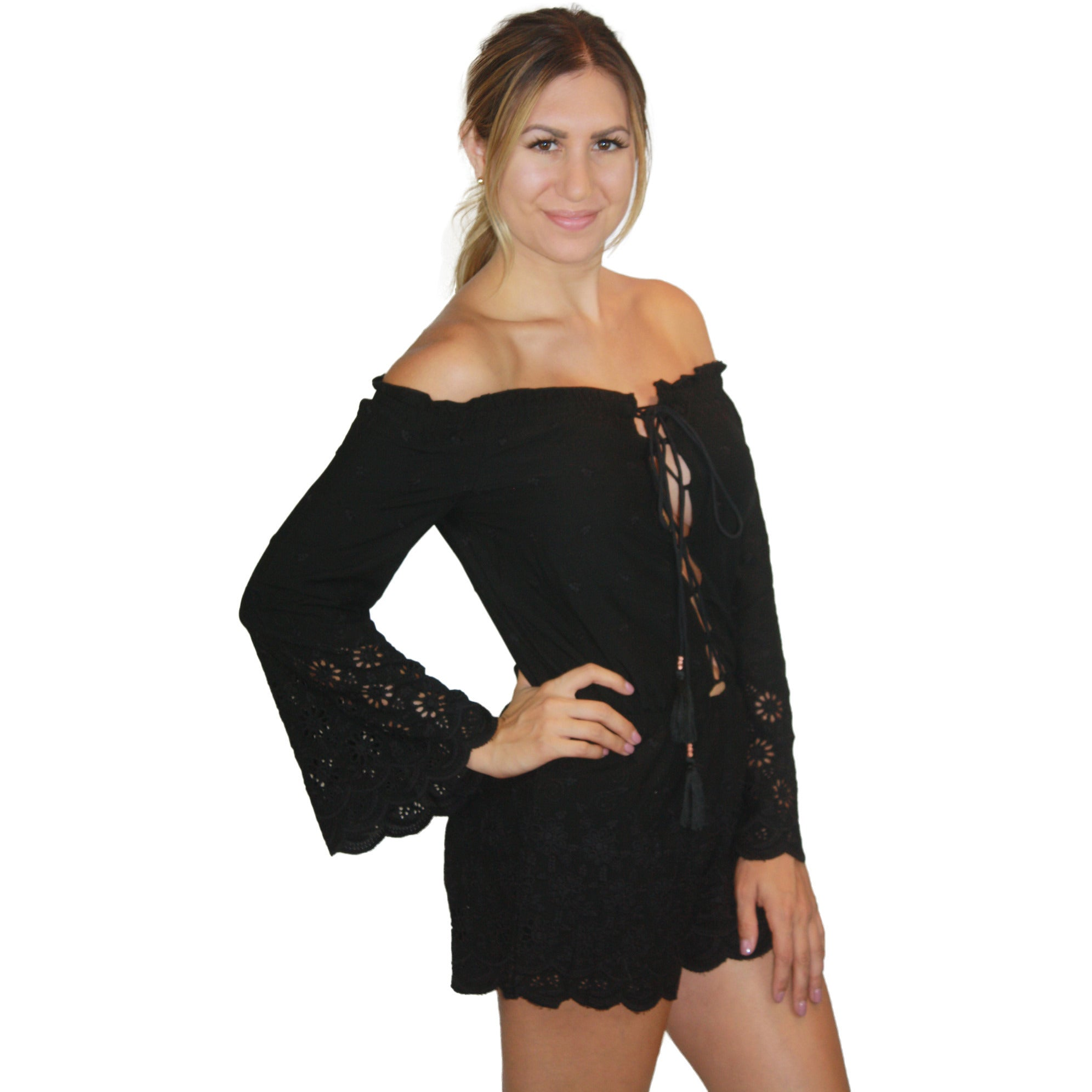 Serena Romper in Black
