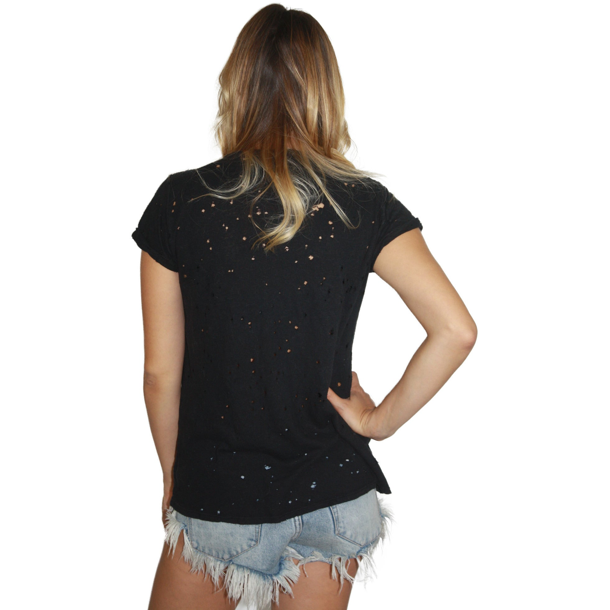 Black Bess Tee in Star Eye Skull