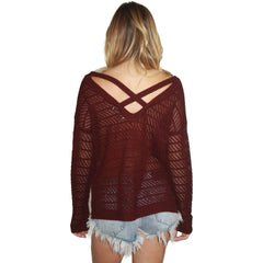 Robyn Sweater in Vamp