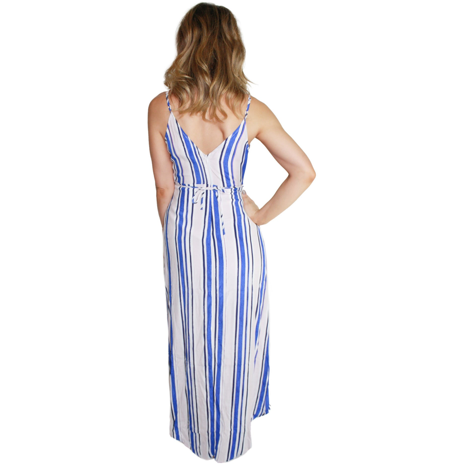 Donna Dress in Blue Blush Stripe (FINAL SALE)
