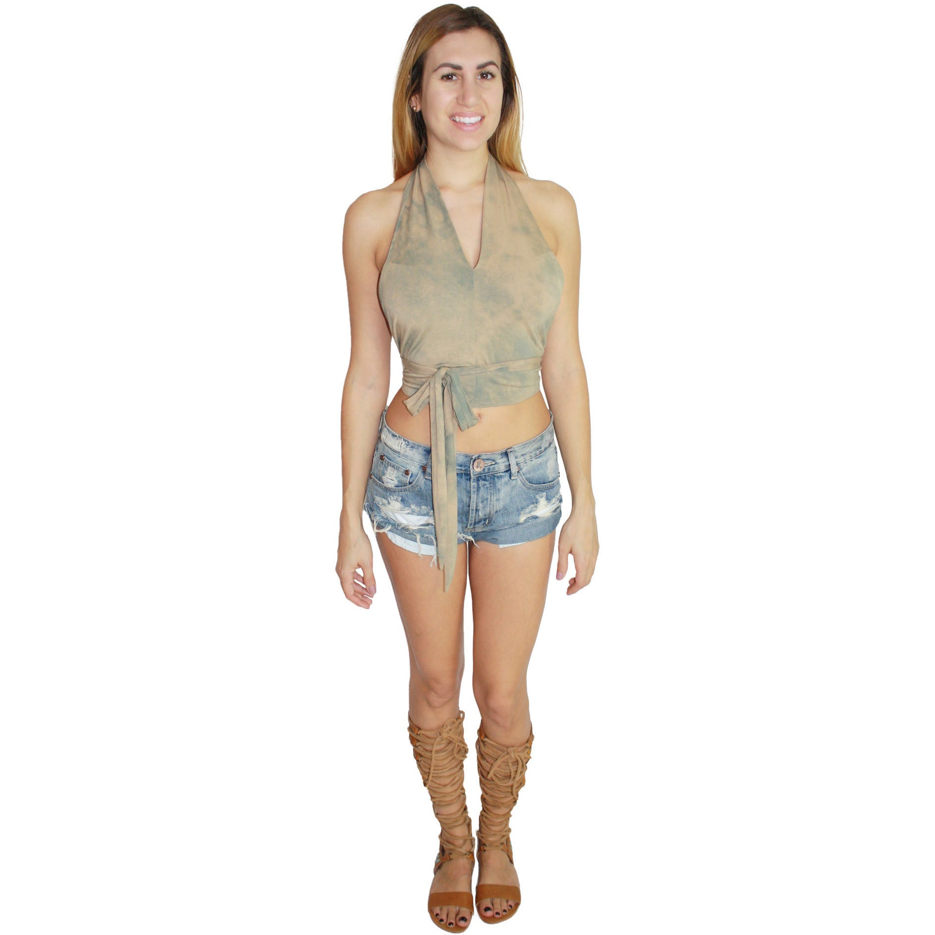Panama Wrap Top in Desert Rose