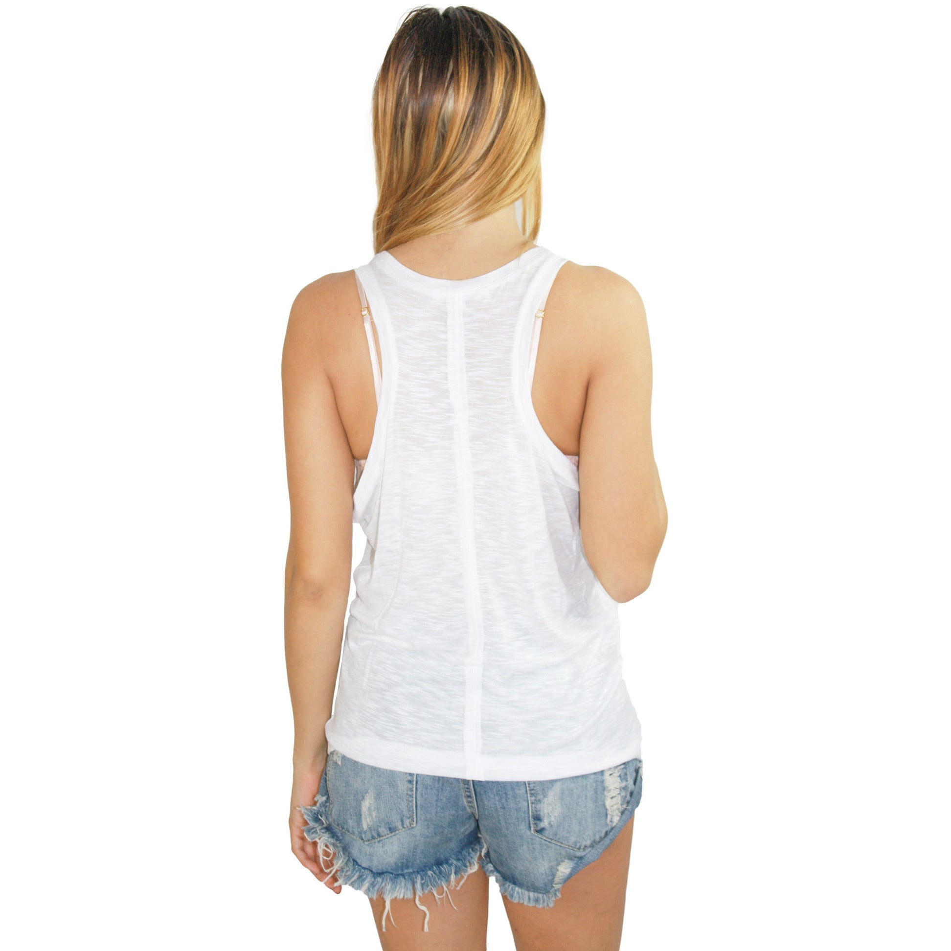 Super Low Scoop Tank in White