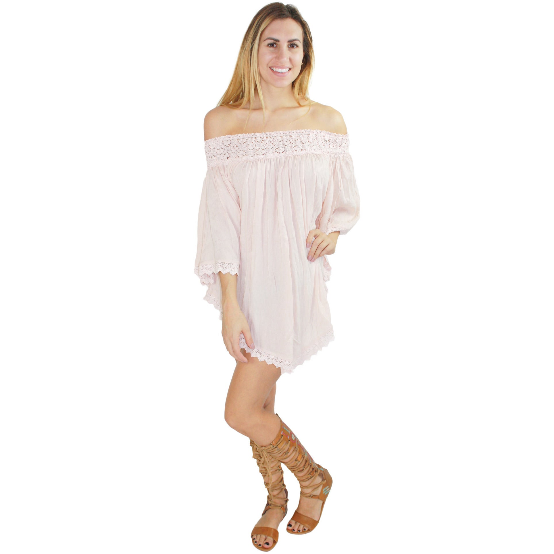 Josie Beach Tunic in Oyster Pink