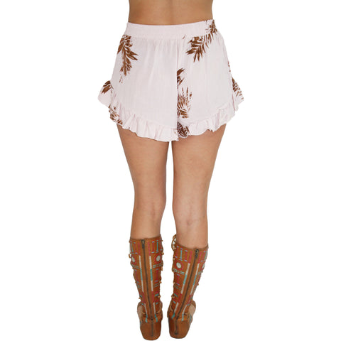 Palm Ruffle Shorts
