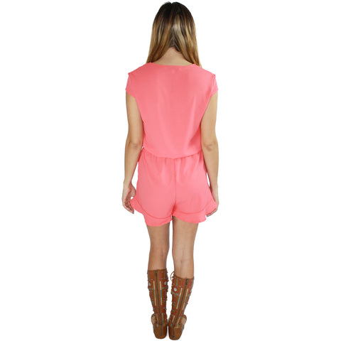 Valencia Romper in Sunset Crepe