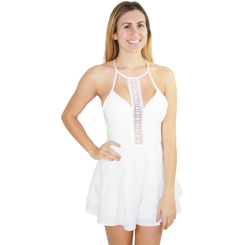 Tanya Romper Dress in White