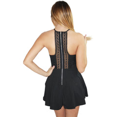 Tanya Romper Dress in Black