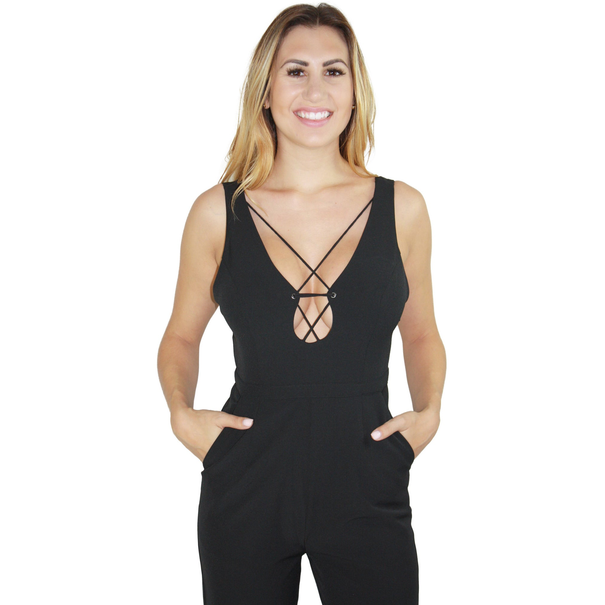 Solitaire Jumpsuit in Noir
