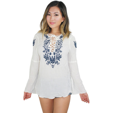The Marina Tunic in Eggshell