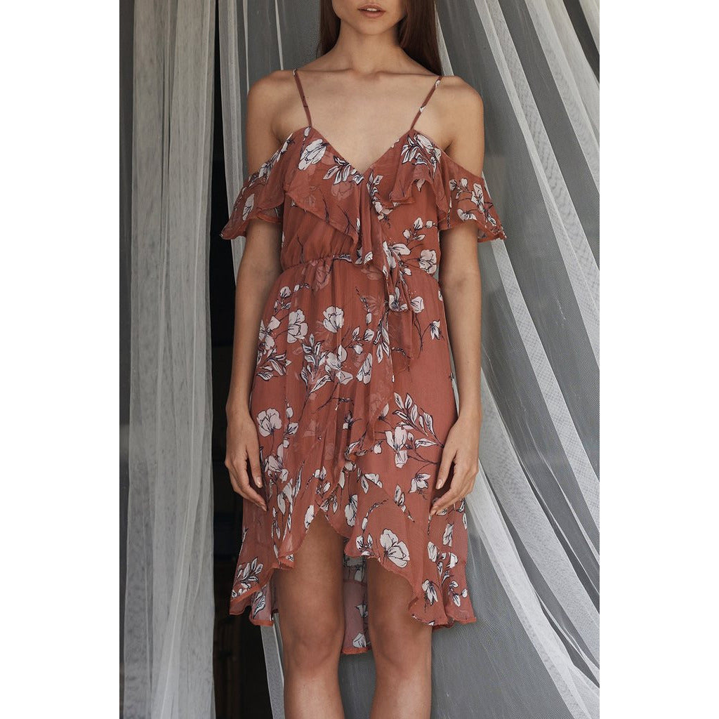 Oasis Floral Mini Dress in Floral Print
