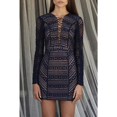 Eden Mini Dress in Midnight