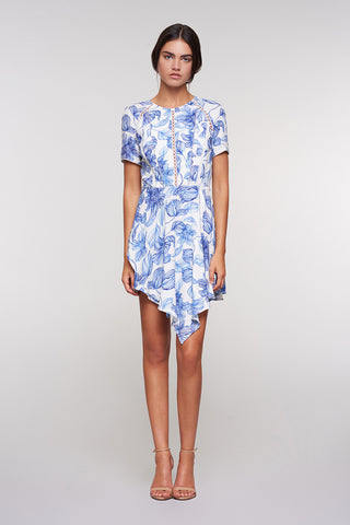 Magnolia A-Line Dress in Floral