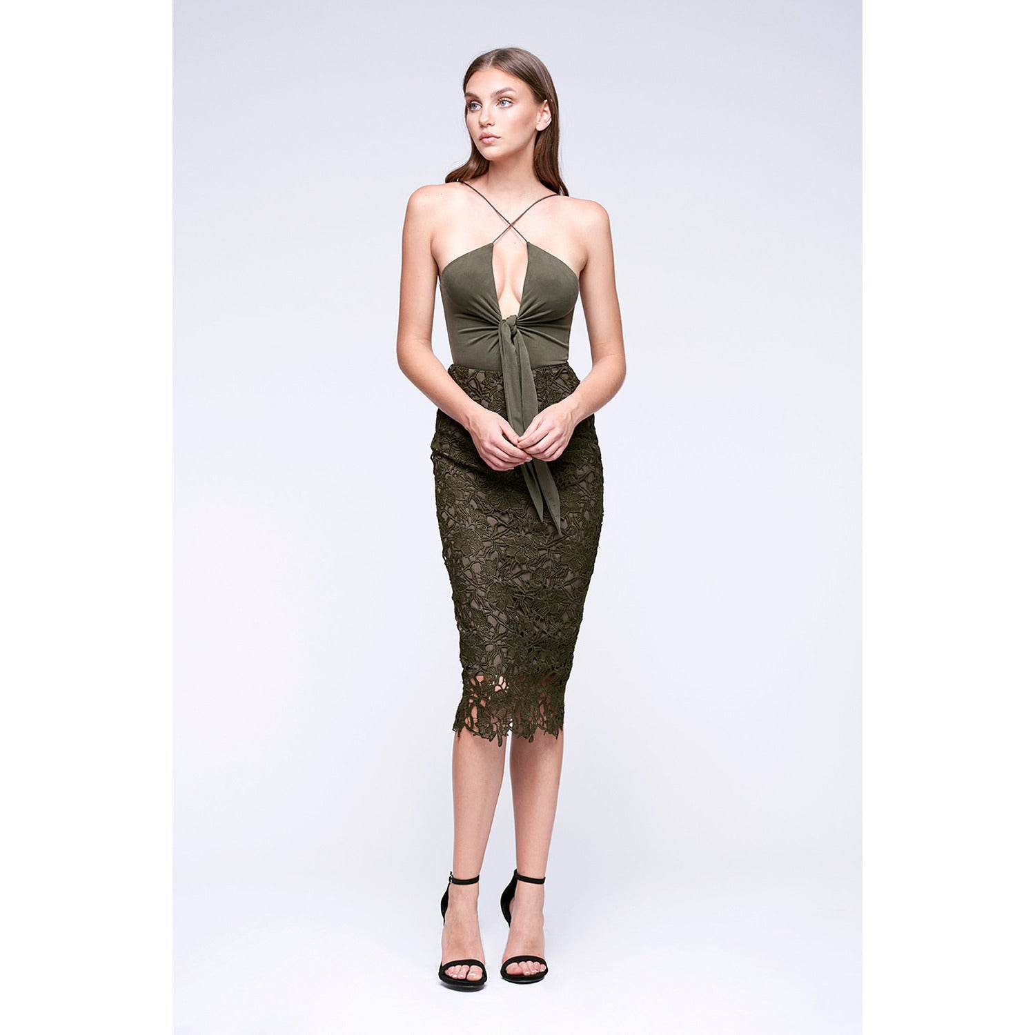 Thebes Bodysuit in Olive