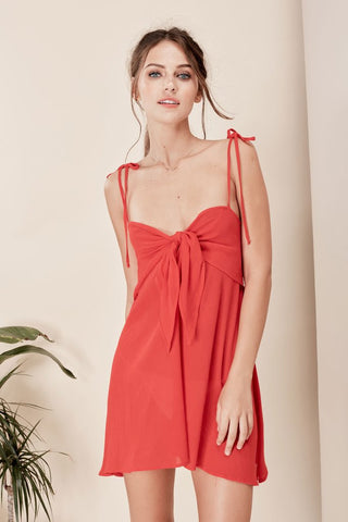Toledo Mini Dress in Chili Pepper